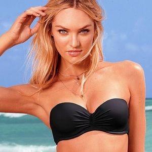 Victoria's Secret Push Up Black Bandeau Top 32C🖤